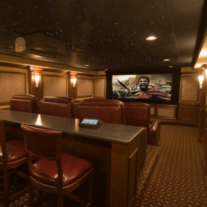 aj burnett gets all star home theater - Home Theater Design Group