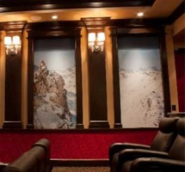 In the News - Home Theater Features Changing Decor with Reversible Panels