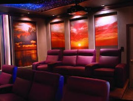 In the News - Home Theater Walls Serve Up Stunning Sunset