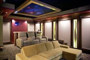 The Vault Home Theater is the highlight feature in the new showroom shared by Boca Theater and Automation and CDGi. Photos: Carlos Aristizabel